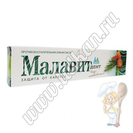 Зубная паста Малавит - Дент, кедр-можжевельник