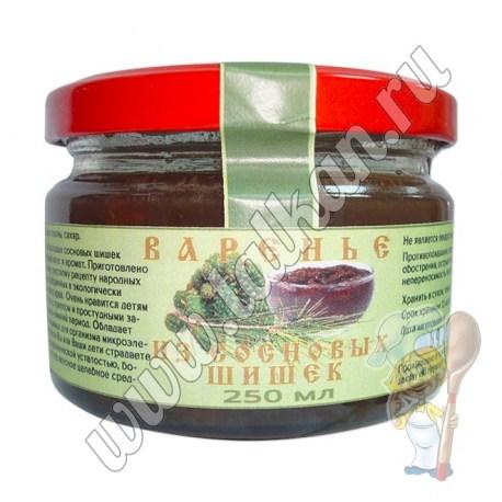 Варенье из зелёных сосновых шишек 250 гр
