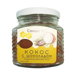 Паста-урбеч из мякоти кокоса с шоколадом
